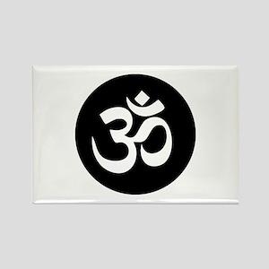 Om Symbol Circle Magnets