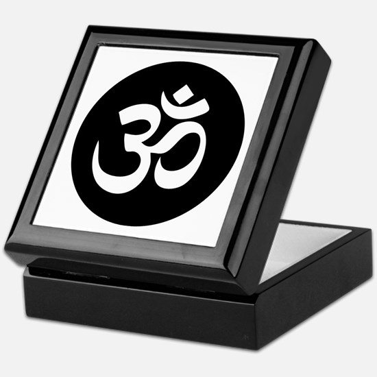 Om Symbol Circle Keepsake Box