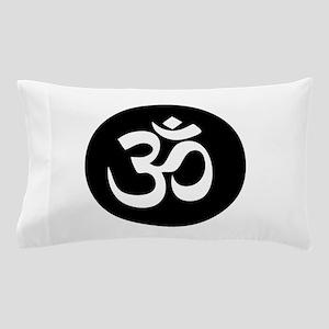 Om Symbol Circle Pillow Case