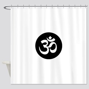 Om Symbol Circle Shower Curtain