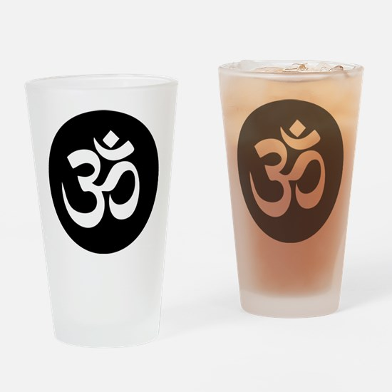 Om Symbol Circle Drinking Glass