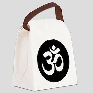 Om Symbol Circle Canvas Lunch Bag