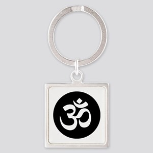 Om Symbol Circle Keychains