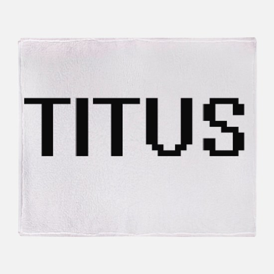 Titus Digital Name Design Throw Blanket