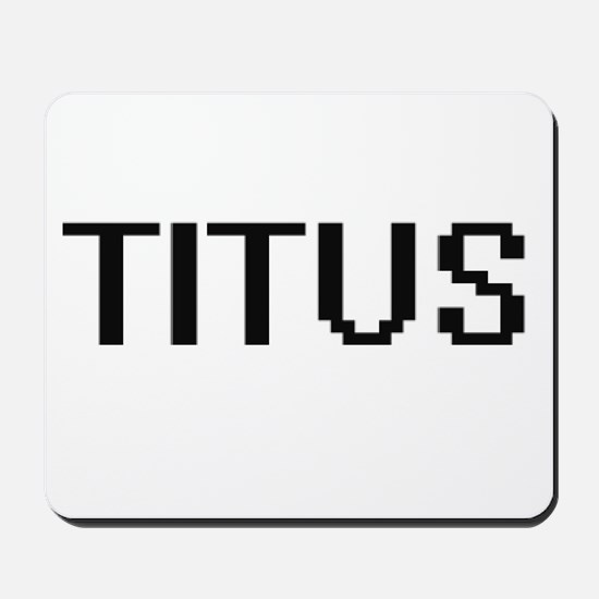 Titus Digital Name Design Mousepad