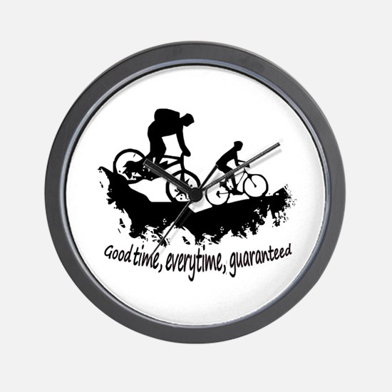 Mountain Biking Good Time Inspirational Wall Clock
