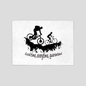 Mountain Biking Good Time Inspirational Quote 5'x7