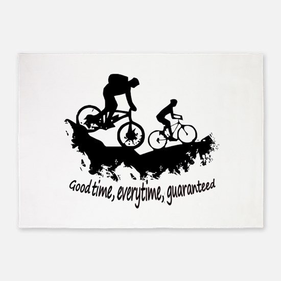 Mountain Biking Good Time Inspirational Quote 5'x7