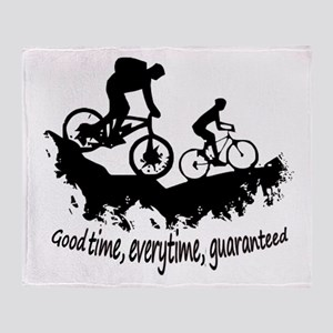 Mountain Biking Good Time Inspirational Quote Thro