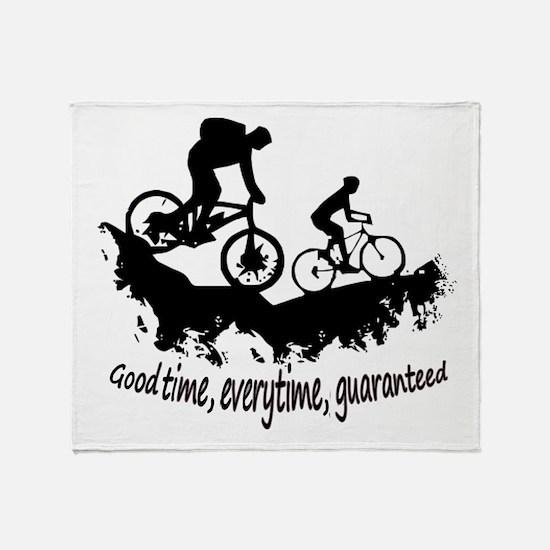 Mountain Biking Good Time Inspirational Quote Thro
