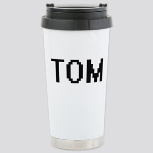 Tom Digital Name Design Stainless Steel Travel Mug