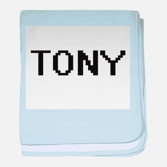 Tony Digital Name Design baby blanket