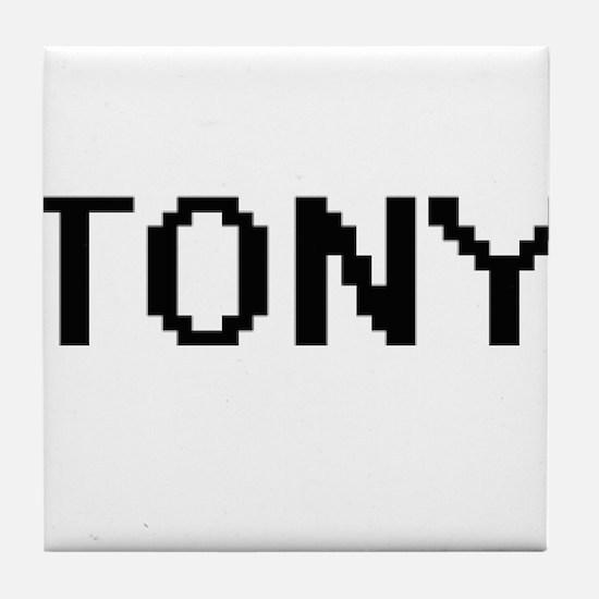 Tony Digital Name Design Tile Coaster