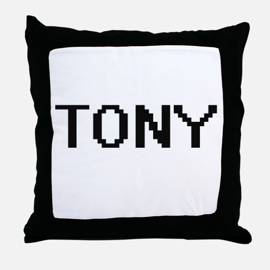 Tony Digital Name Design Throw Pillow