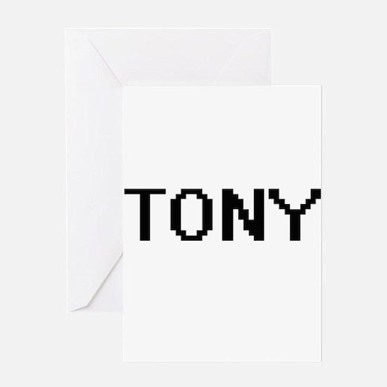 Tony Digital Name Design Greeting Cards
