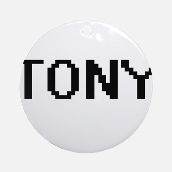 Tony Digital Name Design Ornament (Round)
