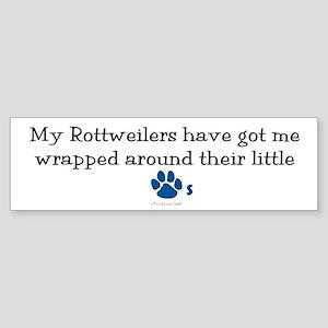 Wrapped Around Their Paws (Rottweiler) Sticker (Bu