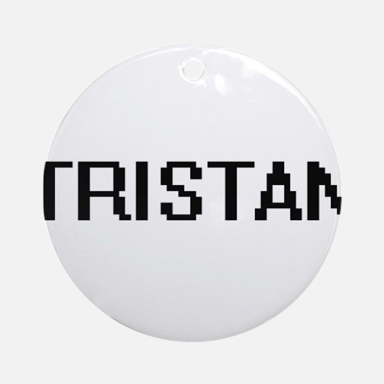 Tristan Digital Name Design Ornament (Round)