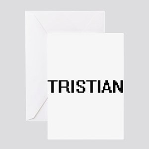 Tristian Digital Name Design Greeting Cards