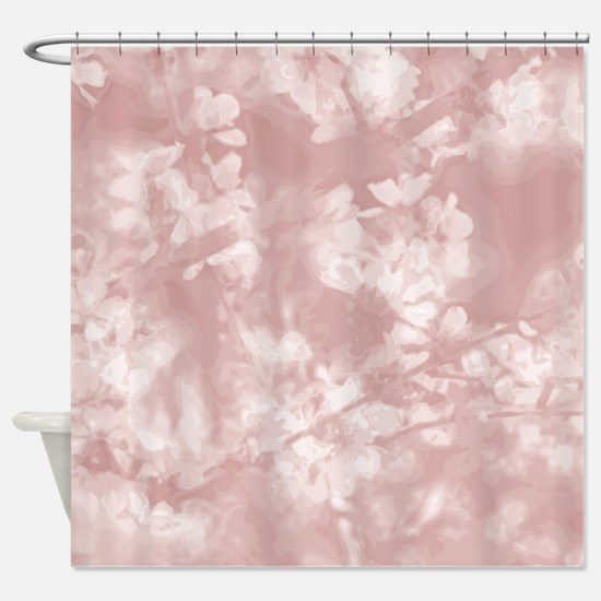 Spring Blossoms in Strawberry Ice Shower Curtain