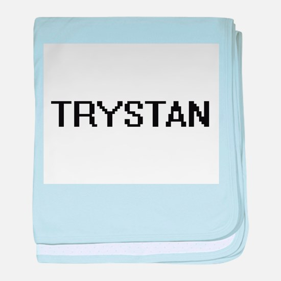 Trystan Digital Name Design baby blanket