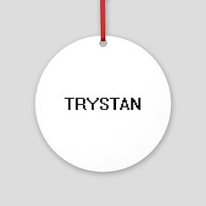 Trystan Digital Name Design Ornament (Round)
