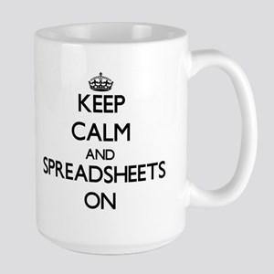 Keep Calm and Spreadsheets ON Mugs