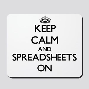 Keep Calm and Spreadsheets ON Mousepad