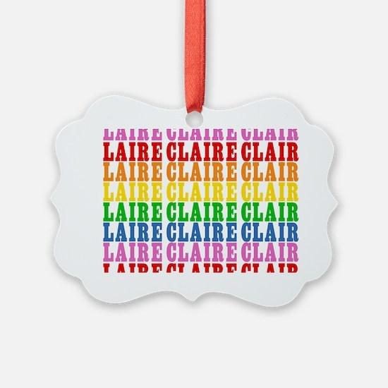 Rainbow Name Pattern Ornament