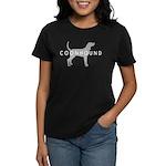 Coonhound (Grey) Dog Breed Women's Dark T-Shirt