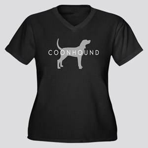 Coonhound (Grey) Dog Breed Women's Plus Size V-Nec