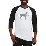 Coonhound (Grey) Dog Breed Baseball Jersey