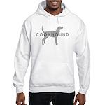 Coonhound (Grey) Dog Breed Hooded Sweatshirt