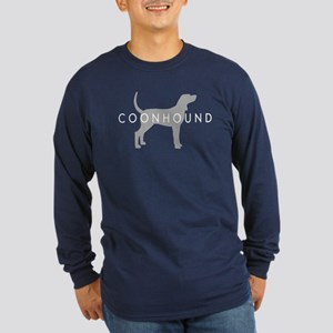 Coonhound (Grey) Dog Breed Long Sleeve Dark T-Shir