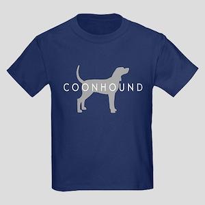 Coonhound (Grey) Dog Breed Kids Dark T-Shirt