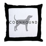 Coonhound (Grey) Dog Breed Throw Pillow