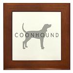 Coonhound (Grey) Dog Breed Framed Tile