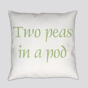 Two Peas in a Pod Everyday Pillow