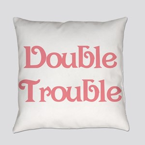 Double Trouble Pink Everyday Pillow