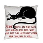 Sneaky Cats Everyday Pillow