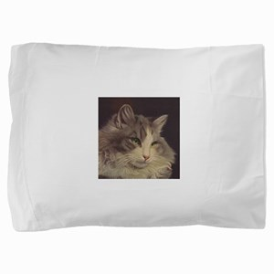 Green Eyed Cat Pillow Sham