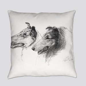 Rough Smooth Collies Everyday Pillow