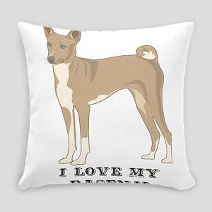 I Love my Basenji Everyday Pillow