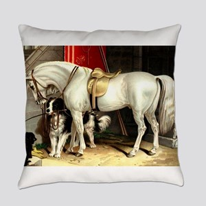 White Horse Everyday Pillow