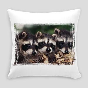 3 Raccoons Everyday Pillow
