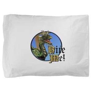 Bite Me Dragon Pillow Sham