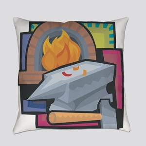 Black Smithing Everyday Pillow