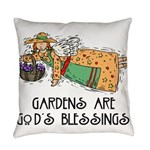 Gardens are Gods Blessing Everyday Pillow