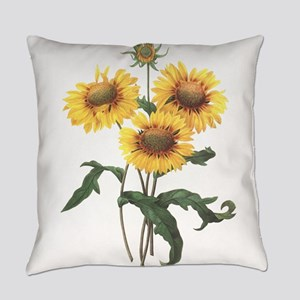 Redoute Sunflowers Everyday Pillow