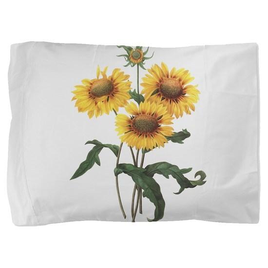 Redoute Sunflowers Pillow Sham